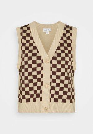 Vest - brown and beige