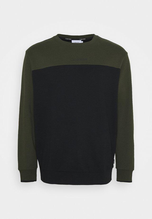 COLOR BLOCK - Sweatshirt - green