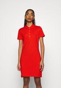 Lacoste - MINI EXTENSIBLE - Day dress - groseillier - 0