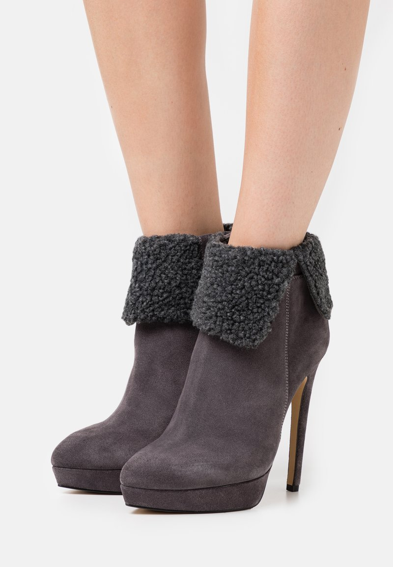 Even&Odd - LEATHER - Winter boots - grey