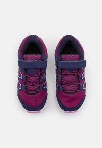 Salomon - SPEEDCROSS BUNGEE UNISEX - Hiking shoes - plum caspia/evening b/orchid - 3