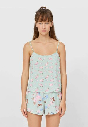 MIT BLUMENPRINT - Pyjama top - green