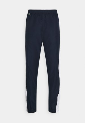 TENNIS PANT - Verryttelyhousut - navy blue/white