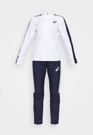 LINED SUIT SET - Tracksuit - brilliant white/peacoat