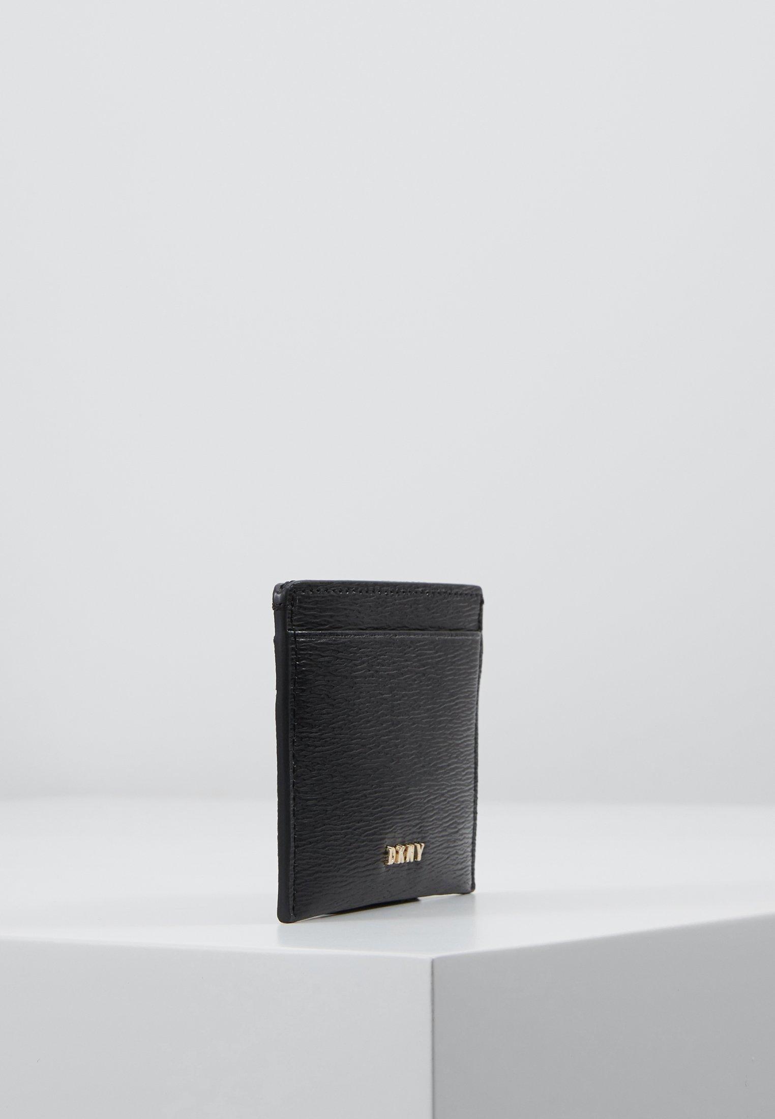 DKNY PERLA ENVELOPE FLAP - Lommebok - black/gold-coloured/svart kWMs02dUI55H3cp
