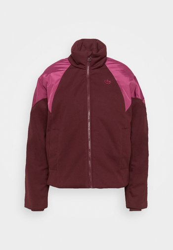 SHORT PUFFER - Winter jacket - maroon/power berry