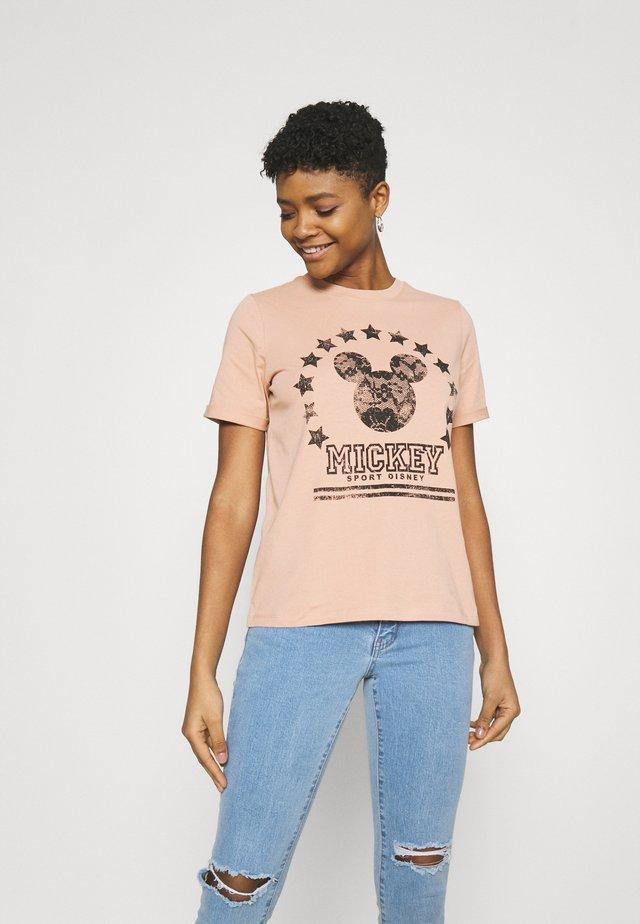 ONLMICKEY COLLEGE  - Camiseta estampada - mahogany rose