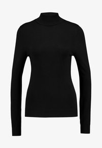 BASIC- TURTLE NECK JUMPER - Jersey de punto - black