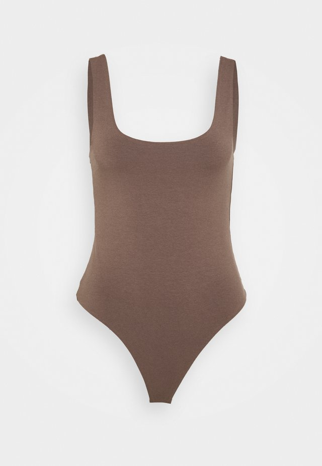 TANK BODYSUIT - Top - brown