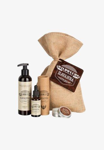 BEARD CARE SET - Shaving set - havanna