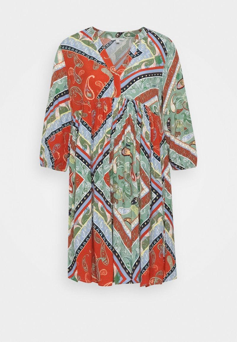 TOM TAILOR DENIM - PRINTED BABYDOLL DRESS - Day dress - multi-coloured