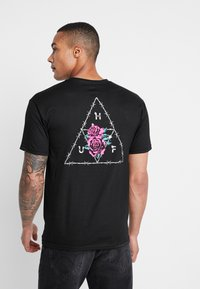 HUF - DYSTOPIA TEE - Print T-shirt - black - 0