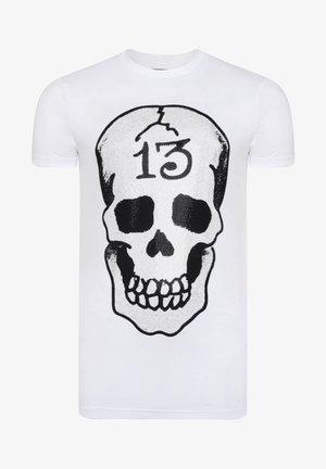 SKULL-13 T-SHIRT - Print T-shirt - white