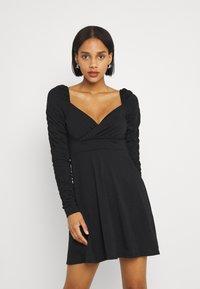 NA-KD - PAMELA REIF DRAPED  - Jersey dress - black - 0