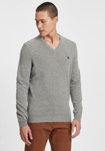 Stickad tröja - medium grey heather