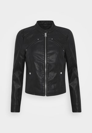 VMFAVODONA COATED  - Faux leather jacket - black