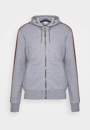 GENTS ZIP THROUGH TAPED SEAMS HOODY - Zip-up hoodie - mottled grey