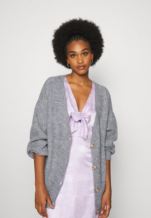 Strickjacke - mottled grey