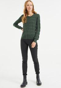 WE Fashion - Cardigan - army green - 1