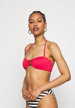 BANDEAU - Bikini top - rouge