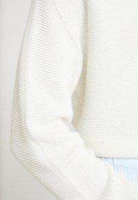 Rich & Royal - MOCK NECK - Sweter - pearl white - 6