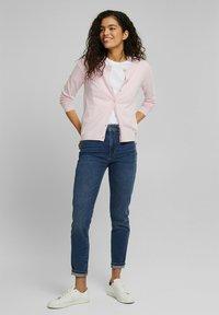 edc by Esprit - CORE ROUND NECK CARDIGAN - Cardigan - light pink - 1
