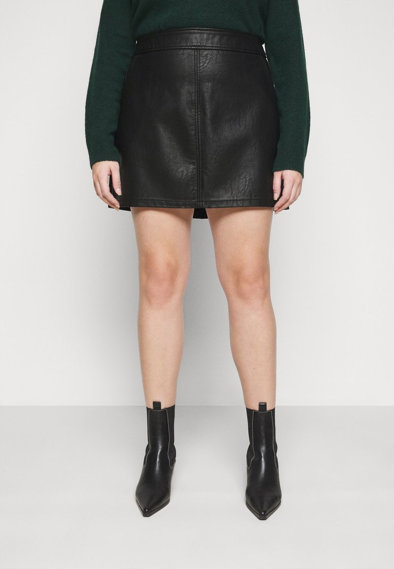 Dorothy Perkins Curve - SKIRT - Mini skirt - black