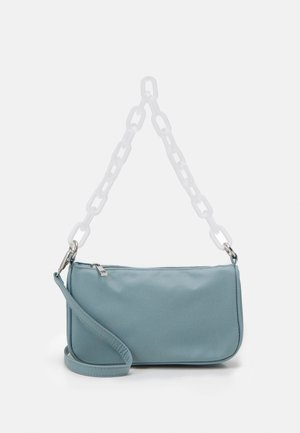 PCMAJA SHOULDER BAG - Handbag - kentucky blue/clear silver
