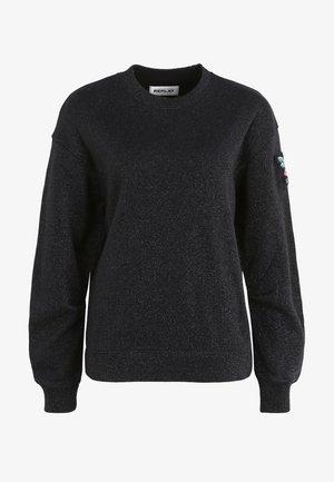 MIT GLITZER - Sweatshirt - schwarz