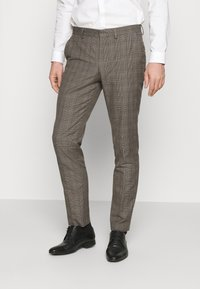 Selected Homme - SLHSLIM CHECK SUIT SET - Completo - sand - 4