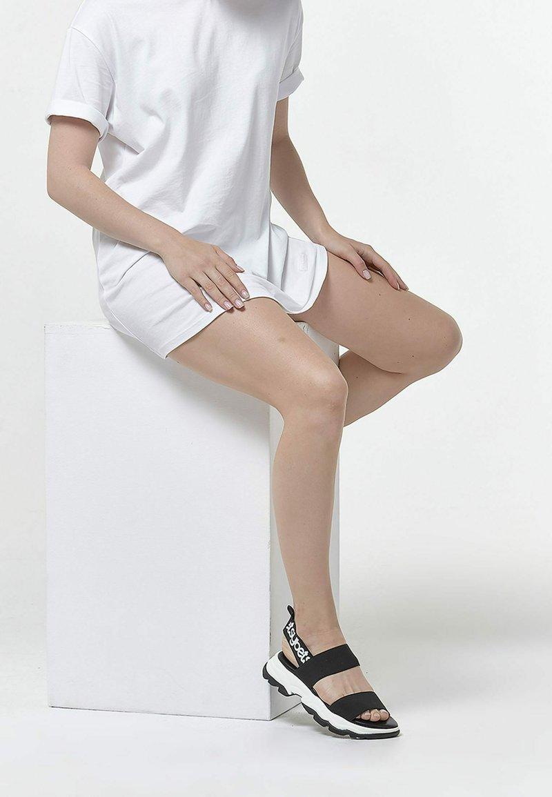 Betsy - Sandals - black  white