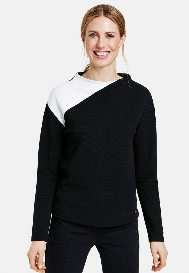 Long sleeved top - schwarz/ecru/weiss patch