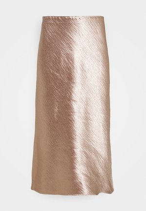 BIAS MIDI SLIP SOLID SHINE - Pencil skirt - bare