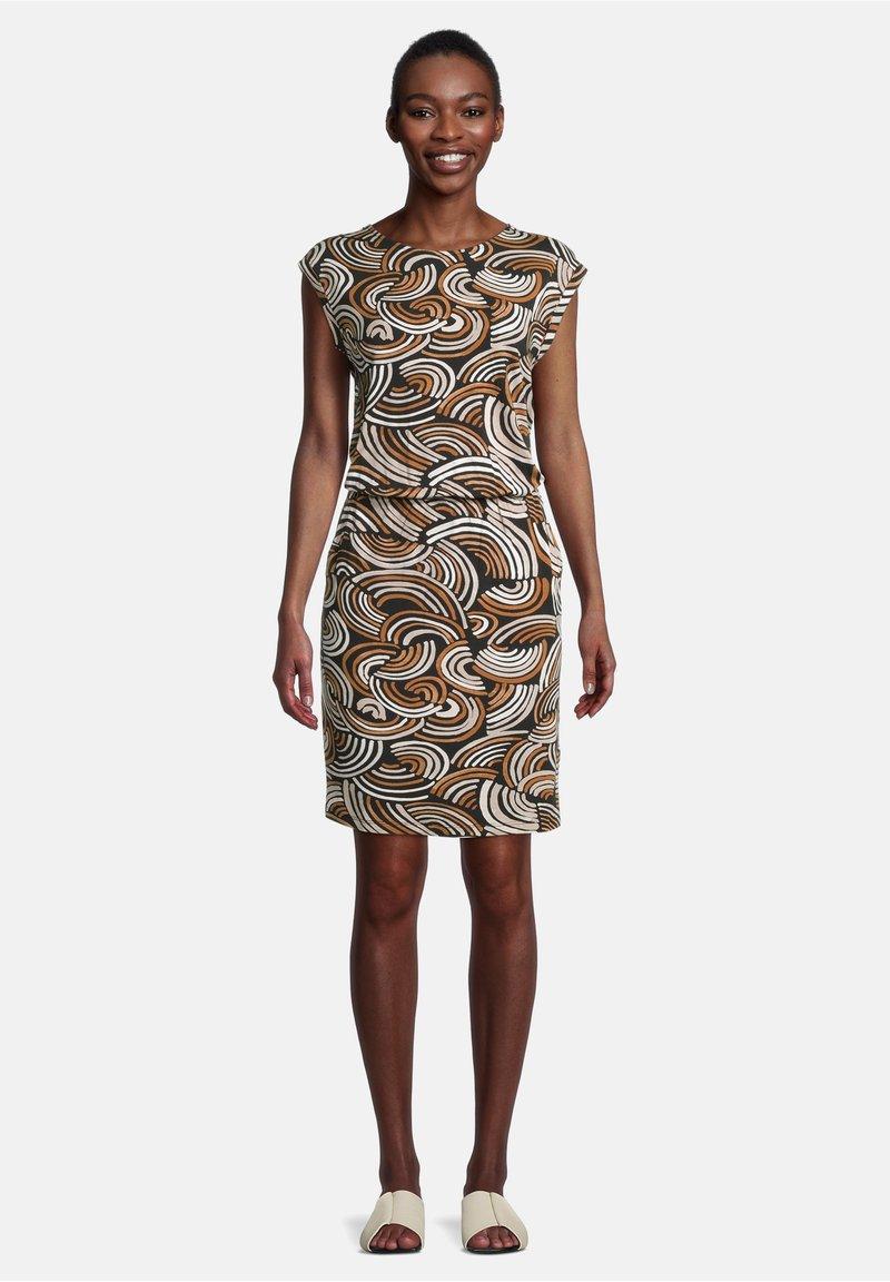 Cartoon - Day dress - schwarz/braun