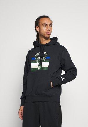 NBA MILWAUKEE BUCKS STATEMENT LOGO HOODIE - Fanartikel - black/white