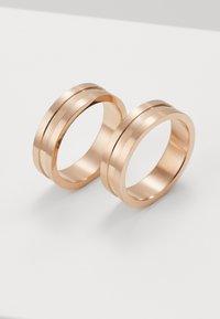 Burton Menswear London - 2 PACK - Ring - rose gold-coloured - 2