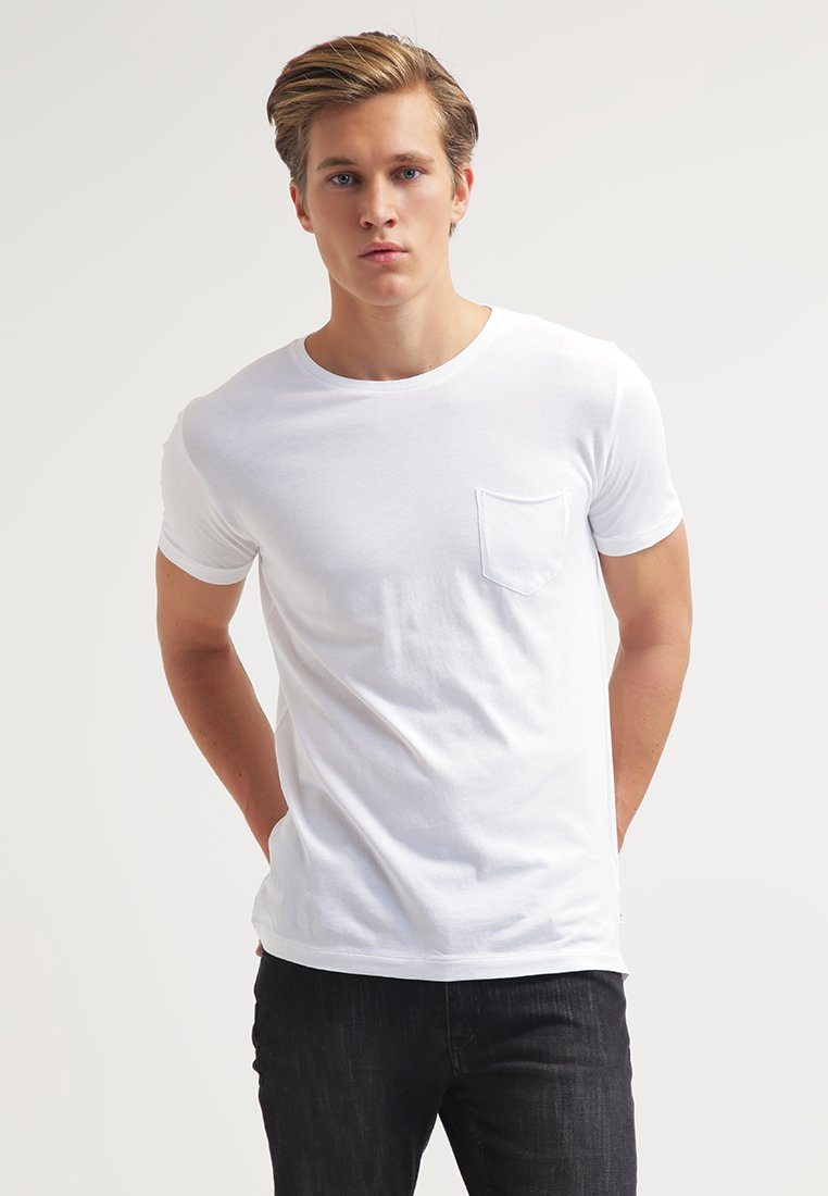 KnowledgeCotton Apparel - T-shirt - bas - offwhite