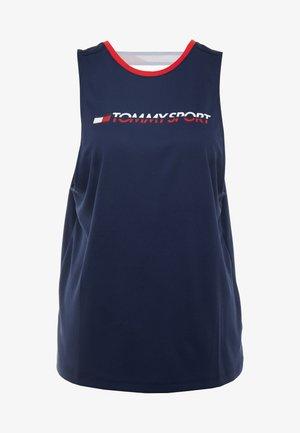 OPEN BACK TAPE TANK  - Sports shirt - blue