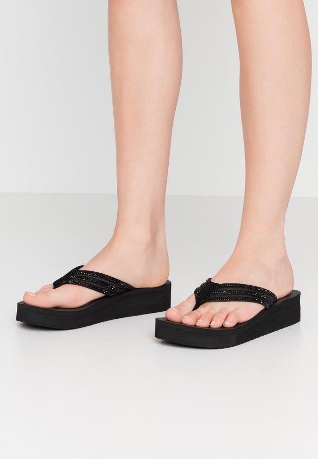 VINYASA - T-bar sandals - black