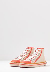 Scotch & Soda - MELLI MID LACE SHOE - High-top trainers - fog/grey/corral - 4
