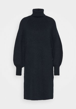 YASALLU ROLL NECK DRESS - Gebreide jurk - sky captain