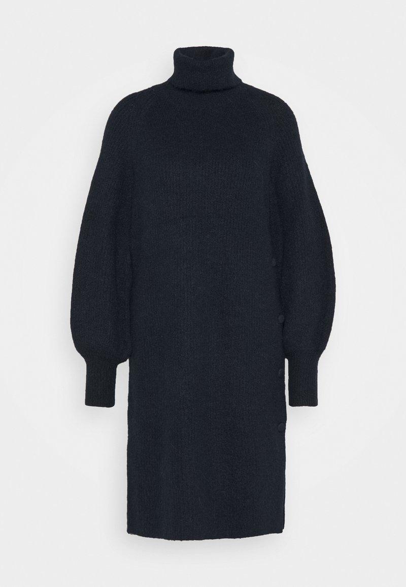 YAS - YASALLU ROLL NECK DRESS - Strikket kjole - sky captain