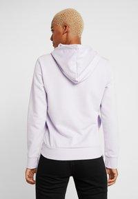 adidas Performance - ESSENTIALS LINEAR SPORT HODDIE - Jersey con capucha - purple tint/white - 2