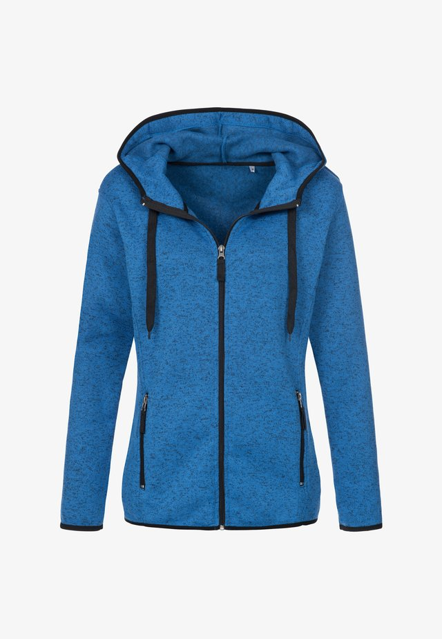 Fleece jacket - blue melange