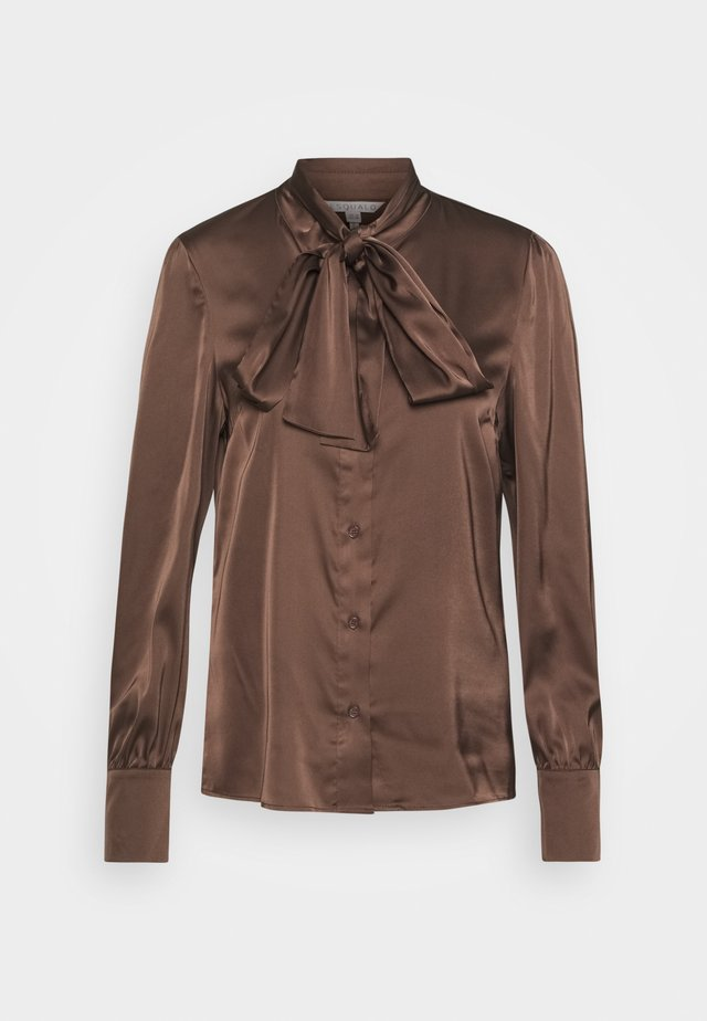 BLOUSE BOW - Skjorta - chocolate