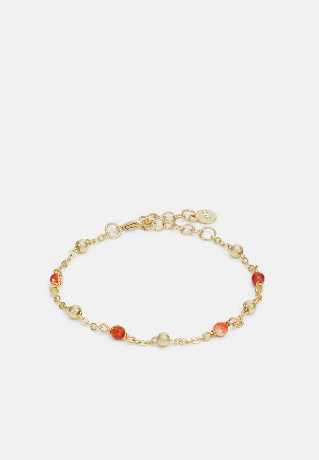 BREY SMALL CHAIN BRACE - Bracelet - gold-coloured/orange