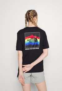 The North Face - RAINBOW TEE - Print T-shirt - black - 2