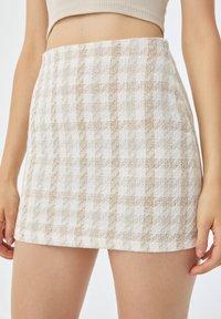 PULL&BEAR - Mini skirt - sand - 3