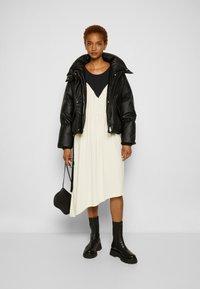 MM6 Maison Margiela - DRESS - Cocktail dress / Party dress - black/off white - 4