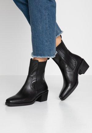 SIMONE - Cowboy/biker ankle boot - black